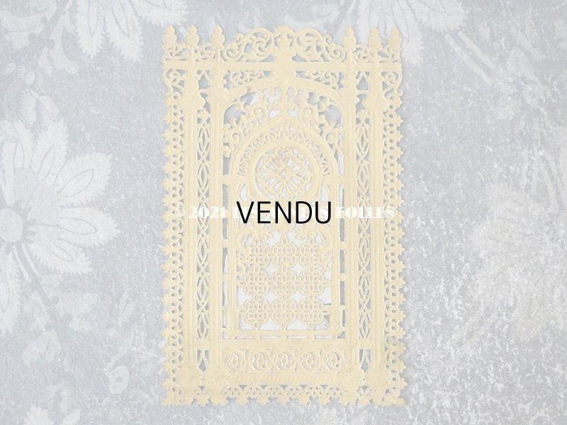 画像4: 1900年代 アンティーク  初聖体のカニヴェ プルミエール・コミュ二オン ゴールドのレースの透かし柄