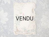 1900年 アンティーク  初聖体の立体カード 見開き型 鈴蘭 & 勿忘草