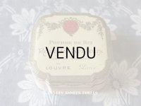 1900年代 アンティーク アンティーク パウダーボックス 薔薇のガーランド 香りの女王 REINE DES SENTEURS - GRANDS MAGASINS DU LOUVRE PARIS -