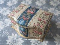 アンティーク 薔薇の花かご&メダイヨン お菓子箱 カルトナージュ ボックス