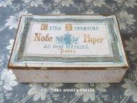 1900年代 アンティーク レターセットの紙箱 EXTRA SUPERFINE NOTE PAPER - AU BON MARCHE MAISON BOUCICAUT PARIS -