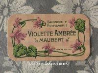 アンティーク パフュームカード 菫 VIOLETTE AMBREE - MAUBERT PARIS -