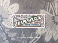 1900年 アンティーク パフュームラベル CREME NEIGE MALACEINE - RENE LEROUX PARIS -