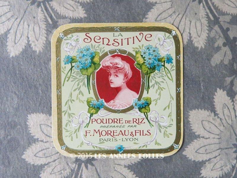 画像1: アンティーク パウダーボックスのラベル  LA SENSITIVE POUDRE DE RIZ - F.MOREAU & FILS PARIS -