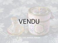 アンティーク 菫の小さなパフュームボックス&ボトル ESSENCE VIOLETTE DE TOULOUSE -VERDOUES FRANCE-
