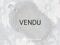 1900年代 アンティーク シルバー製 花模様 メタルメッシュ コインケース 仕切り付
