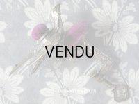 19世紀 アンティーク 燕 ピンクッション クリップ付 ヴィクトリアン