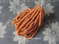 【セール対象外】  1930年代 アンティーク ゼラチン製  スフレ ラムネのような スパンコール オレンジ 4mm 約2400ピース  COL 12