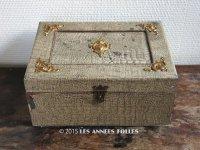 19世紀末 アンティーク 大きな裁縫箱 引き出し付き メルスリーの木箱