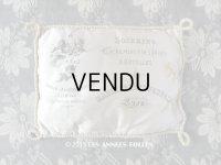 19世紀末 アンティーク  シルク製 クッション LYONのシルク専門店 SOIERIES CACHEMIRES DES INDES DENTELLES - MARIX FRERES JEUNES -