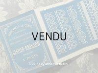 アンティーク クロシェレースの図案帳 CORDONNET A LA CROIX - CARTIER-BRESSON FABRICANTS A PARIS-
