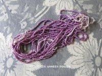 1900年代 アンティーク メタル製  ビーズ  ファセットカット入り  紫 パープル