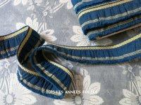 19世紀末 アンティーク ジャガード織 フリルリボン リネン製