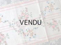 18世紀末 アンティーク シルク製  手刺繍 薔薇模様 幅広リボン 1m