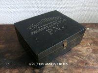 19世紀末 アンティーク 糸巻きの木箱 FIL AU CHNOIS -フィル・オ・シノワ - PELOTES AU FIL D'OR