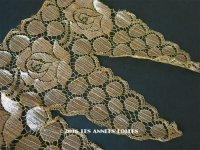 1920年代 アンティーク 幅広 メタルレース 花模様 アールデコ ゴールド 1.3m